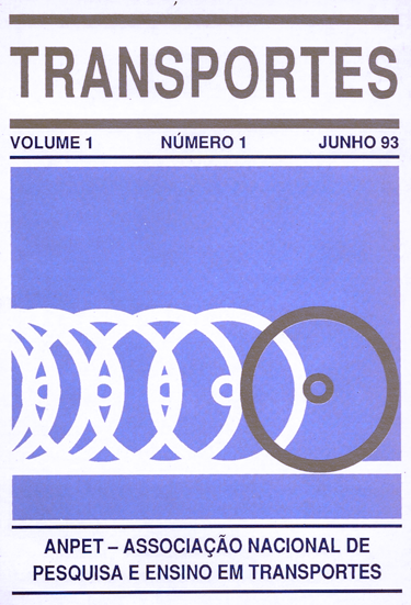Capa do No. 1 do volume 1 de TRANSPORTES