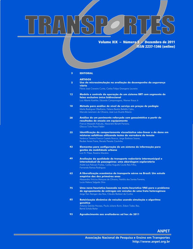 Volume 19, Número 3, Dezembro de 2011