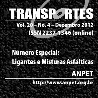 Visualizar v. 20 n. 4 (2012): Ligantes e Misturas Asfálticas